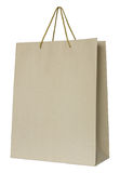 blanc de papier d'isolement par brun de sac Photo libre de droits