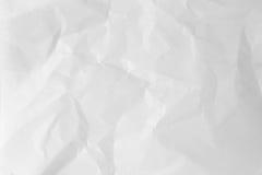 blanc de papier de texture chiffonné par fond Photographie stock libre de droits