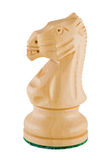 blanc de partie de chevalier d'échecs Images stock