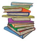 blanc de pile d'isolement par livres de fond Image libre de droits