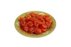 blanc de plaque de fruit de sucrerie de fond Photo stock