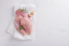Blanc de poulet cru Images libres de droits