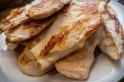 Blanc de poulet frit images stock