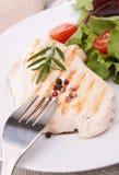 Blanc de poulet grillé Photo stock