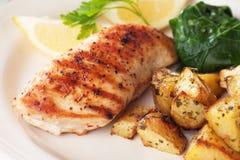 Blanc de poulet grillé Photographie stock libre de droits