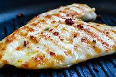 Blanc de poulet grillé Photos libres de droits