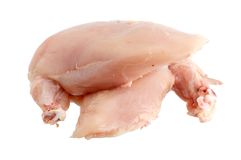 Blanc de poulet sans peau Images libres de droits