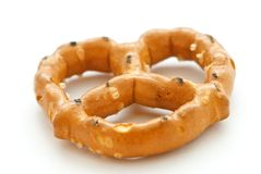 blanc de pretzel Photos stock