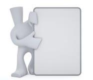 blanc de prise de caractère de panneau mini Images stock