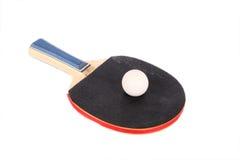 blanc de racet de ping-pong de bille Image stock
