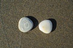 Blanc de roche contre le gris de roche Images libres de droits
