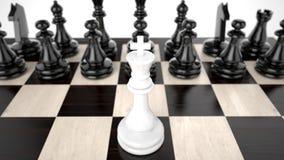 blanc de roi de jeu d'échecs 3d Photographie stock libre de droits