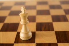 blanc de roi de jeu d'échecs 3d Image libre de droits