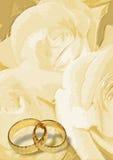 Blanc de salutation 03 de mariage Photographie stock