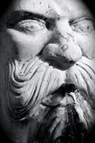 blanc de sculpture en fontaine Photographie stock