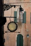 Blanc de signe de Trattoria Image stock