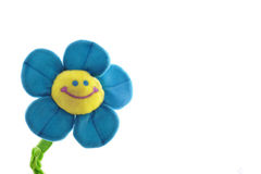 blanc de sourire d'isolement heureux de fleur colorée images libres de droits