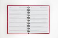 blanc de spirale de papier de cahier d'isolement par blanc de fond carnet de notes à spirale de papier d'isolement sur le blanc Image libre de droits