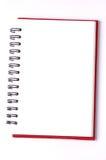 blanc de spirale de papier de cahier d'isolement par blanc de fond carnets de papier d'isolement Photographie stock