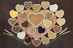 blanc de studio de santé de nourriture de flocons d'avoine de fond macro Images stock