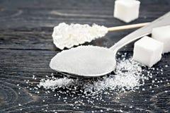 Blanc de sucre différent à bord Photo stock