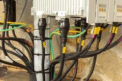 blanc de téléphone de récepteur du matériel de transmission Images stock