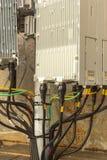blanc de téléphone de récepteur du matériel de transmission Photos libres de droits