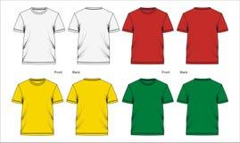 03 Blanc de T-shirt de calibre, Illustration Stock