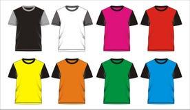 06 Blanc de T-shirt de calibre, Illustration de Vecteur
