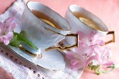 blanc de thé de porcelaine de citron Images libres de droits