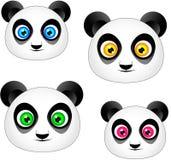 blanc de type de panda d'illustration de dessin animé d'ours de fond Photo stock