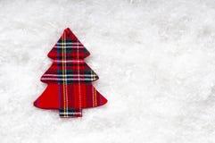 blanc de vecteur d'arbre d'illustration de Noël de fond Photos libres de droits