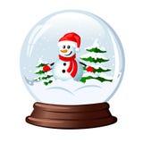 blanc de vecteur de neige d'isolement par illustration de globe Image stock