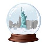 blanc de vecteur de neige d'isolement par illustration de globe Images stock
