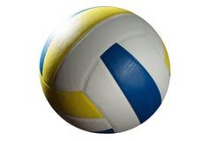 blanc de volleyball de chemin d'isolement par découpage de bille photographie stock