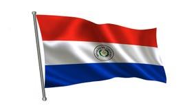 blanc du Paraguay d'illustration d'indicateur de fond Une série de drapeaux de ` du monde ` Le pays - drapeau du Paraguay Photo libre de droits