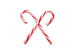 blanc du rouge deux de Noël de cannes de sucrerie Photo stock