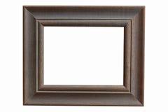 Blanc en bois de cadre de tableau sur le fond blanc d'isolement Photo stock