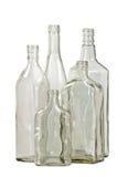 blanc en verre de groupe de 2 bootle Photos stock