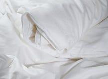 Blanc enroulez couvrant Photographie stock