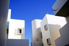 blanc espagnol de ciel bleu d'architecture Photo stock