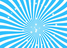 Blanc et bandes bleues de remous avec le clipart de scintillement d'étoiles, le papier peint abstrait de texture, la bannière et  Photographie stock