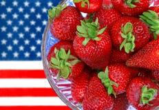 Blanc et bleu rouges Images stock