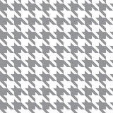 Blanc et Gray Fabric Pattern Texture de contrôle de pied-de-poule Photos stock