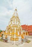 Blanc et pagoda d'or Photos libres de droits