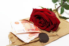 Blanc et rose et argent de noir Photographie stock libre de droits