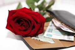Blanc et rose et argent de noir Photo libre de droits