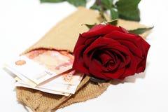 Blanc et rose et argent de noir Images stock