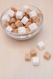 Blanc et sucre de canne Images libres de droits