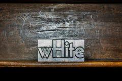 Blanc fait avec les types métalliques Photos libres de droits